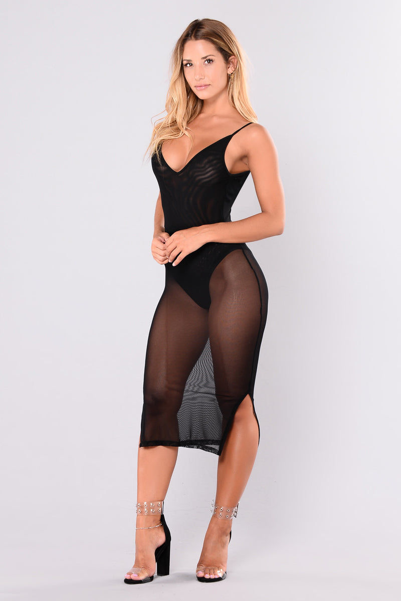 Eden Mesh Dress - Black