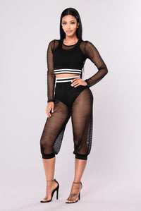 Aaliyah Crop Pants - Black