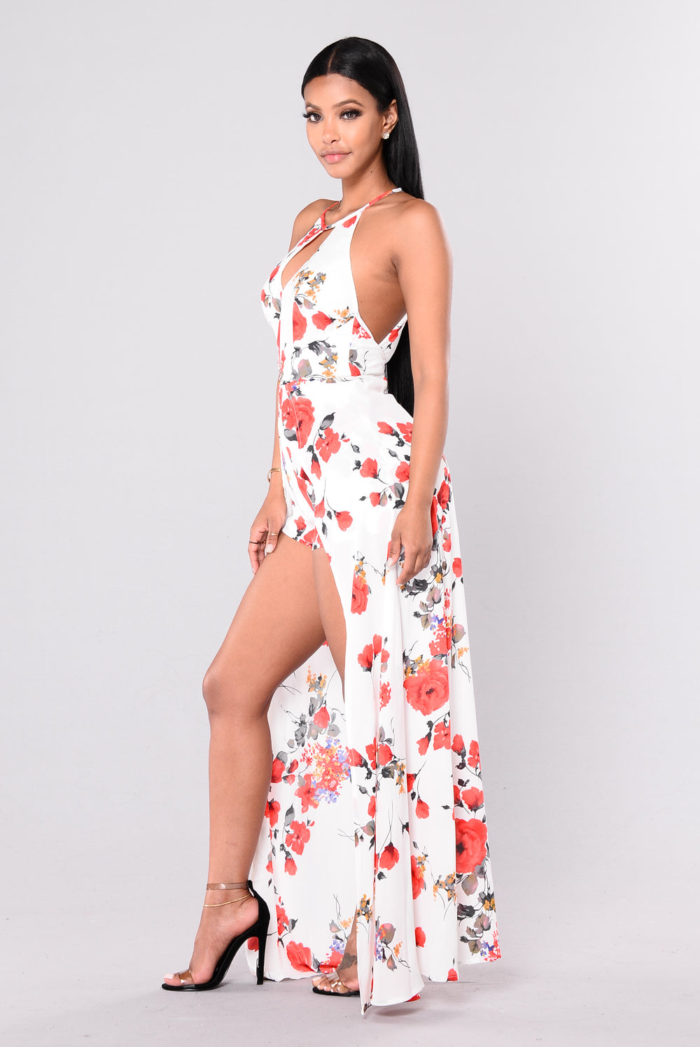 Bottomless Mimosas Dress - Ivory Floral