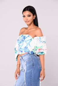 Morning Sunrise Off Shoulder Top - White