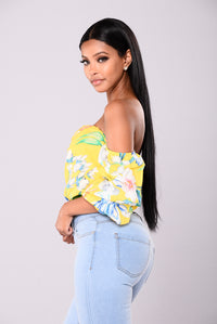 Morning Sunrise Off Shoulder Top - Yellow
