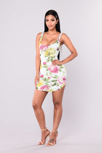 Peonies Floral Dress - Mint Angle 1