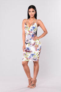 Tropical Dress - White/Floral
