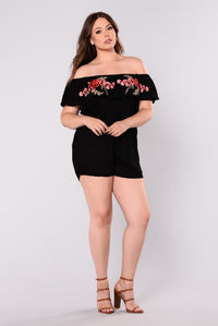 Love Never Lasts Romper - Black