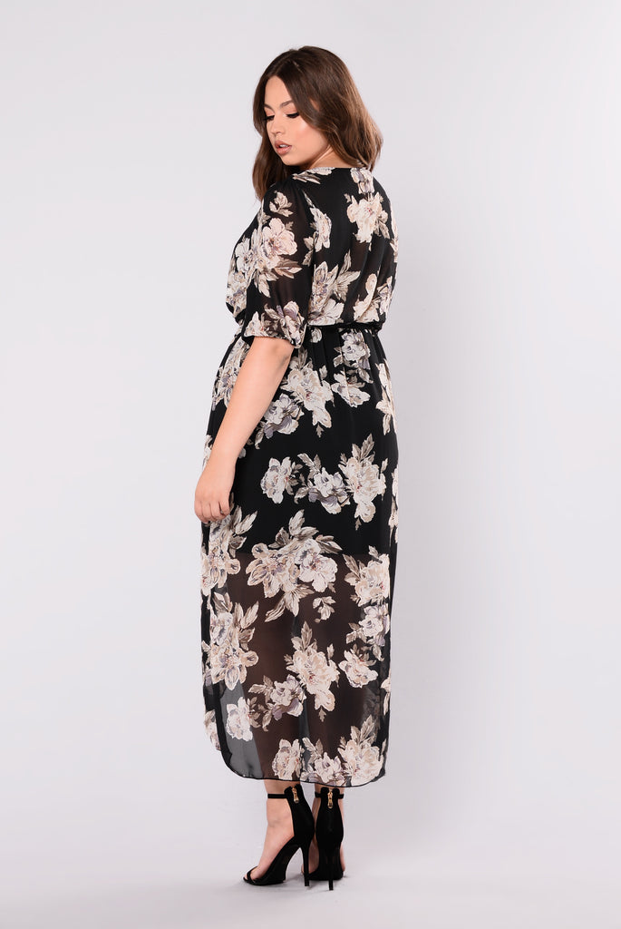 Sweet Nothing Dress - Black Floral