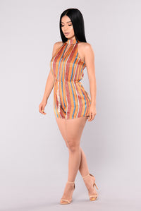 Moment For Life Romper - Rust