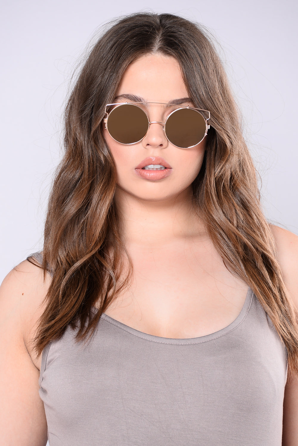 Crescent Bay Beach Sunglasses - Gold/Pink