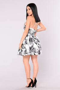 Summer Party Dress - Black/White