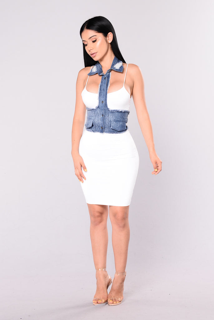 Chants Denim Top - Denim