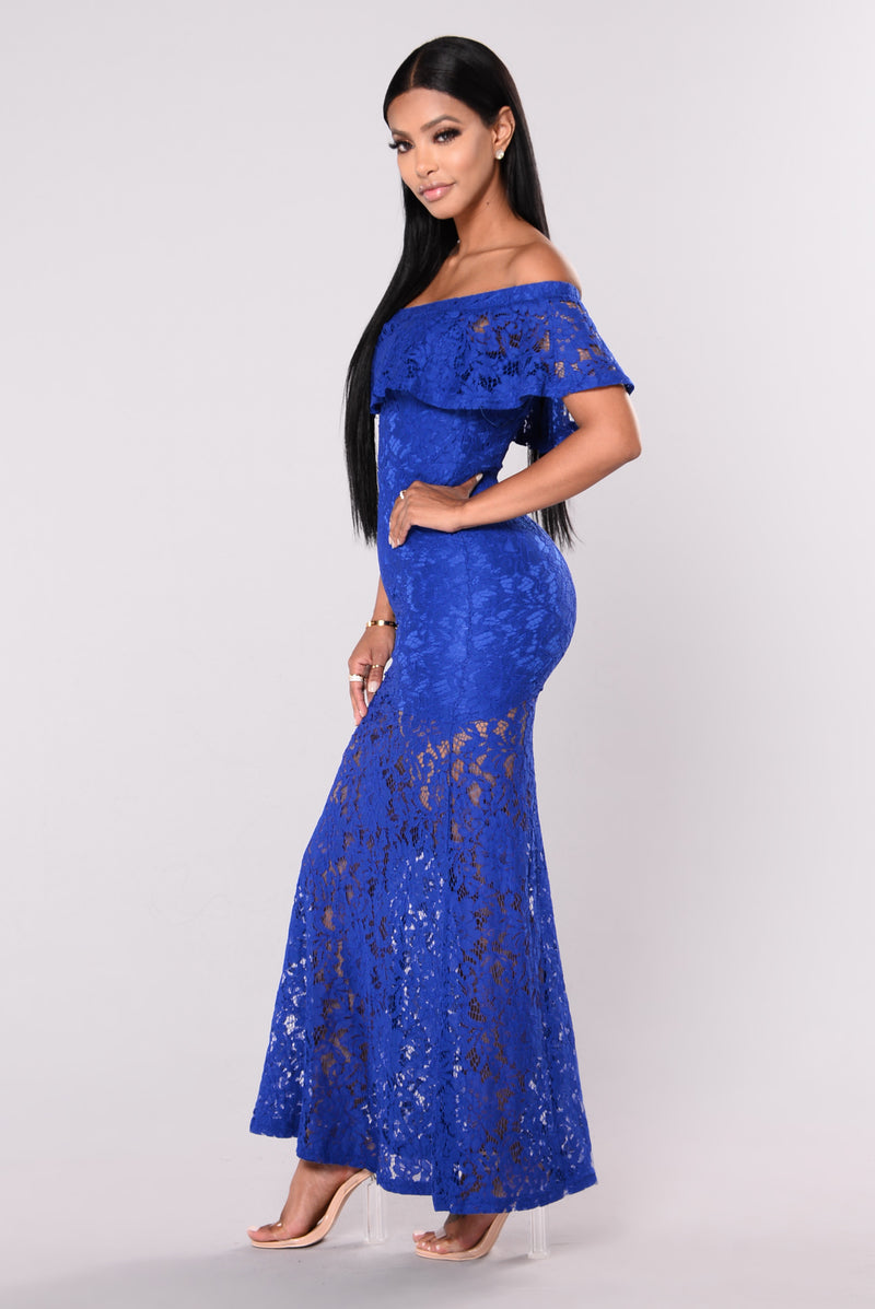 Ariell Lace Dress - Royal
