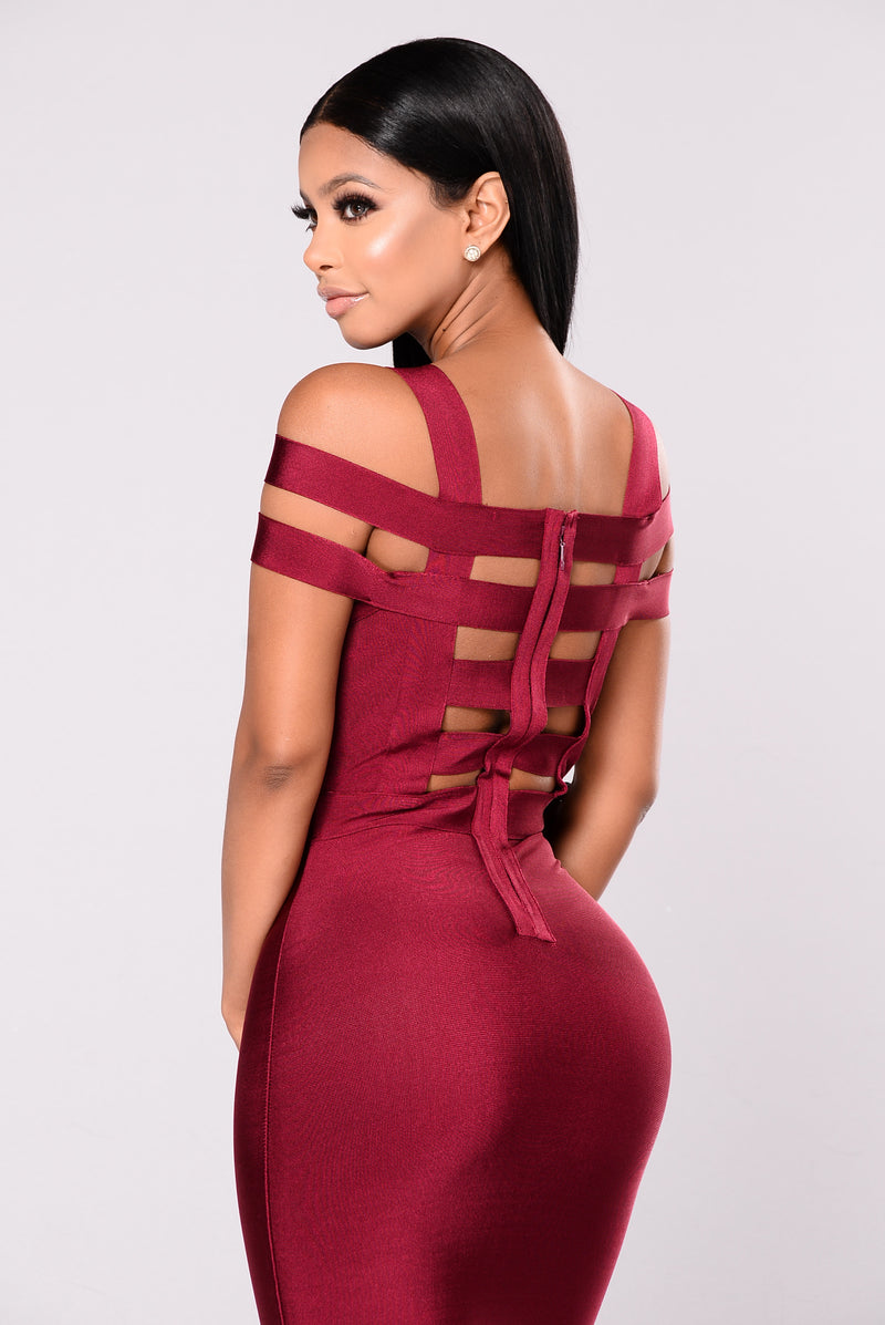 Devi Bandage Dress - Merlot
