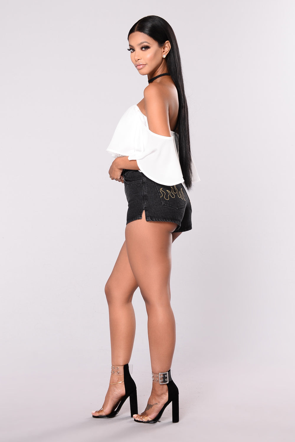 On Fire Shorts - Black