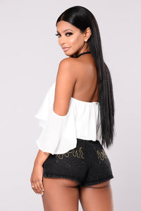 Anabelle Off Shoulder Top - Ivory