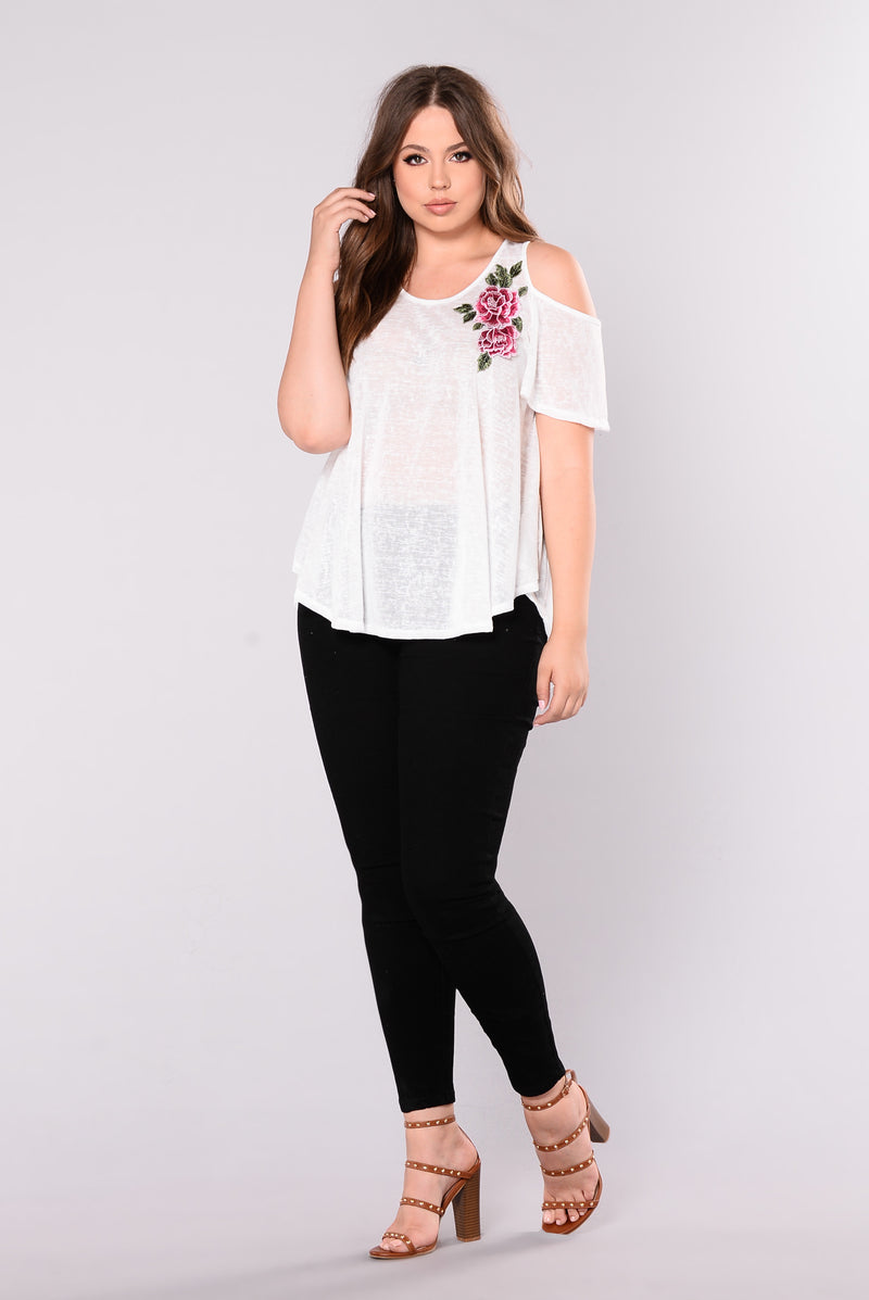 Fields Of Flower Tee - White