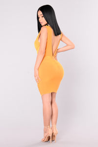 Metropolitan Night Dress - Mustard