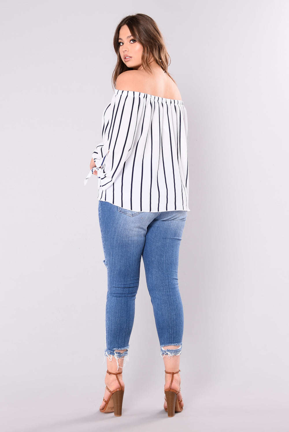Mind Games Top - Ivory/Navy