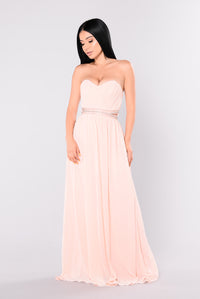 Levana Maxi Dress - Blush