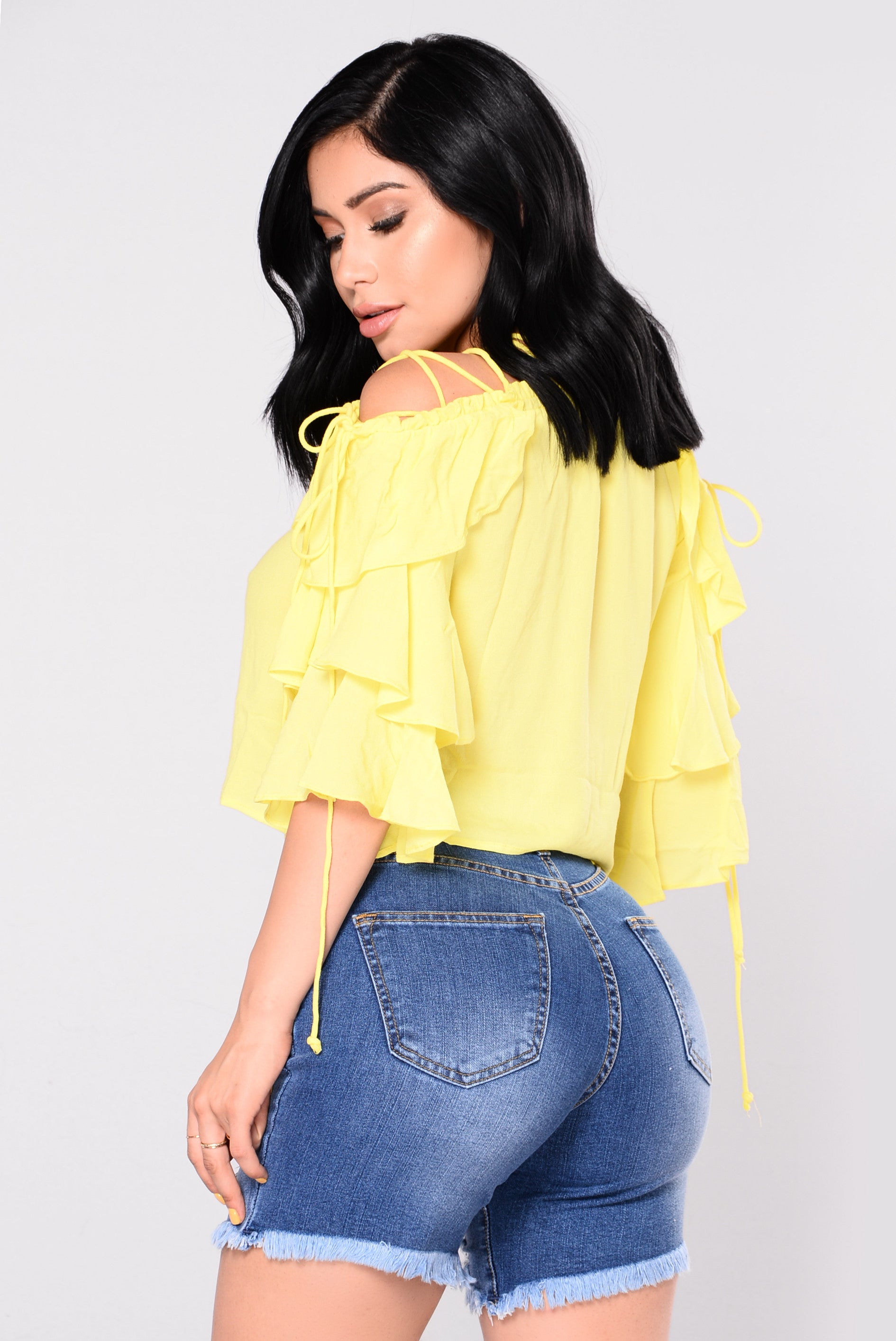 dac841221806 Danika Ruffle Top - Yellow