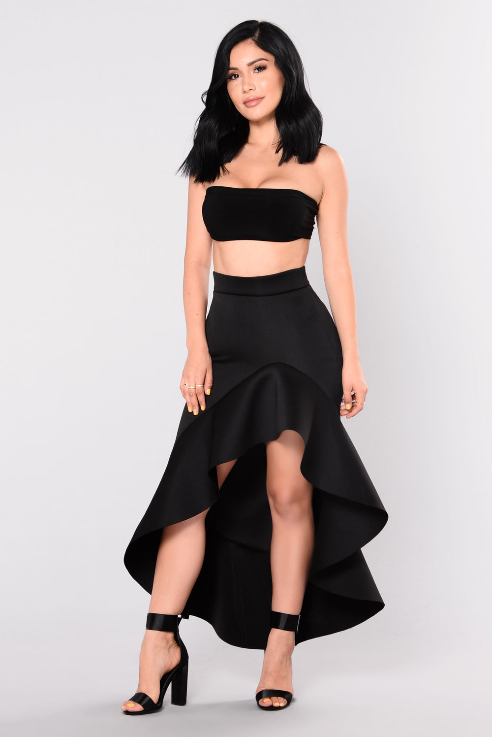 Valentia Ruffle Skirt - Black