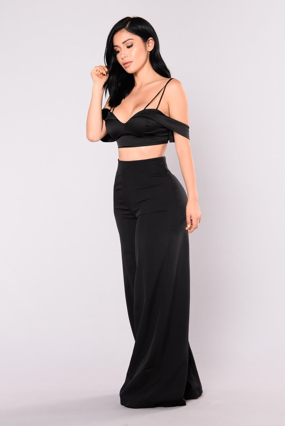 Your Kind Of Girl Crop Top - Black