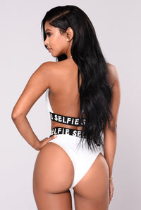 Selfie Queen Bikini Set - White/Black