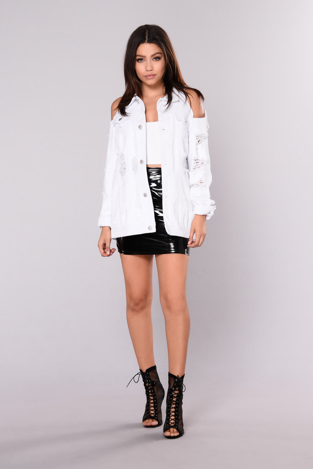 One Too Many Times Jacket - White