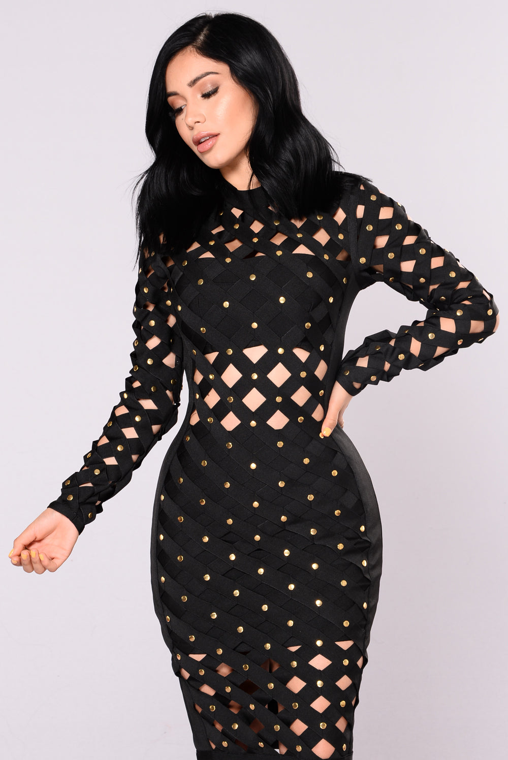 Viktoria Bandage Dress - Black
