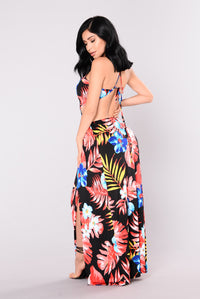 Love Potion Dress - Black/Floral