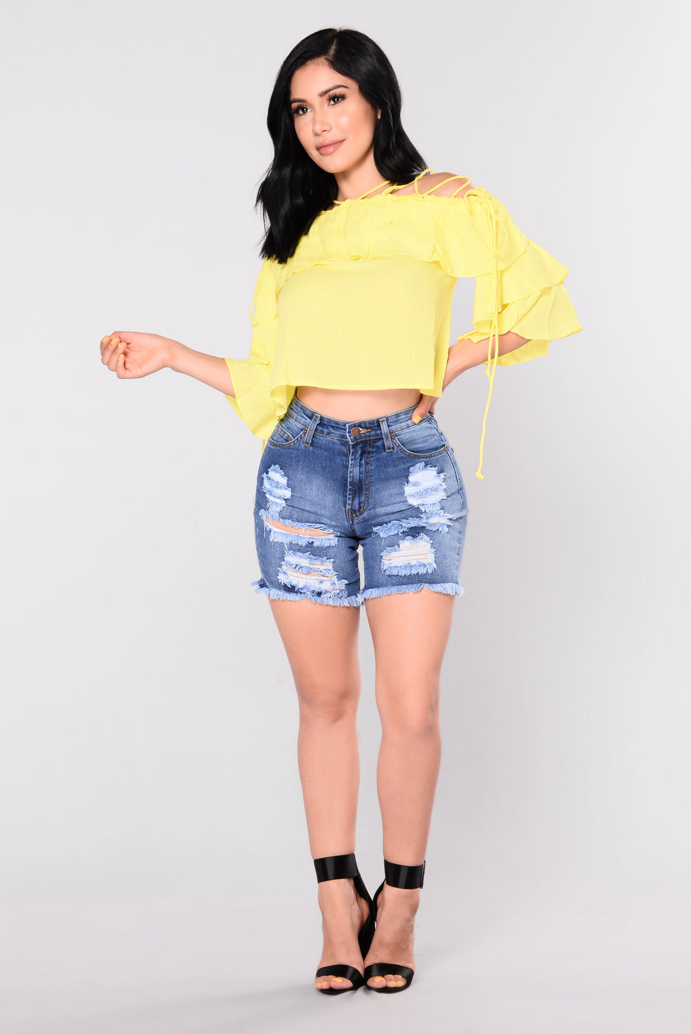 Danika Ruffle Top - Yellow