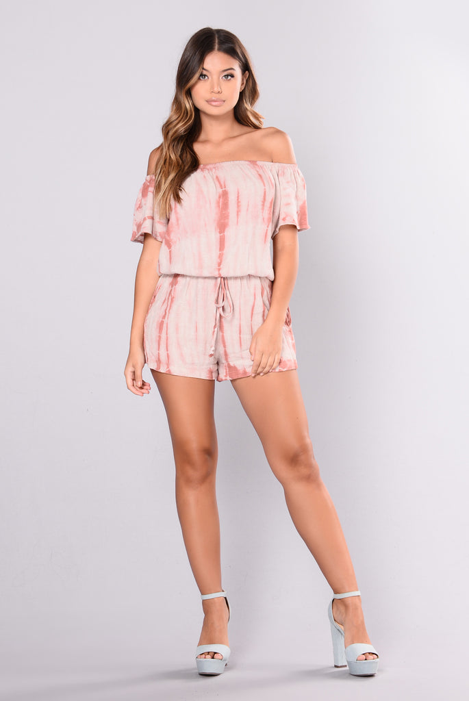 Soft Flush Romper - Rust