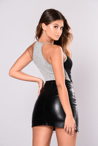 Lennon Bodysuit - Black/Grey