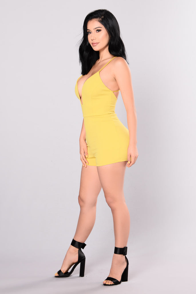 Get It On Romper - Yellow