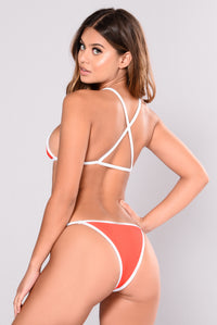 Coast Guard Ribbed Bikini Bottom - Red
