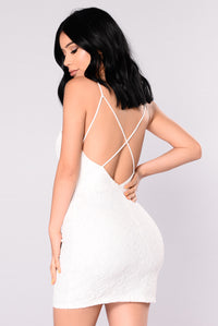 Party Ready Dress - Ivory