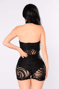 Martina Rompers - Black
