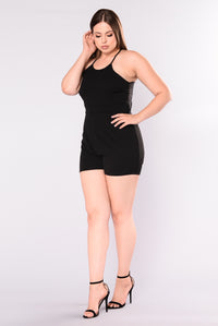 Oh Baby Lace Romper - Black Angle 5