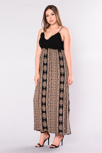 Ancient Egypt Maxi Dresss - Black