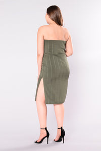 Hold Me Close Dress - Olive