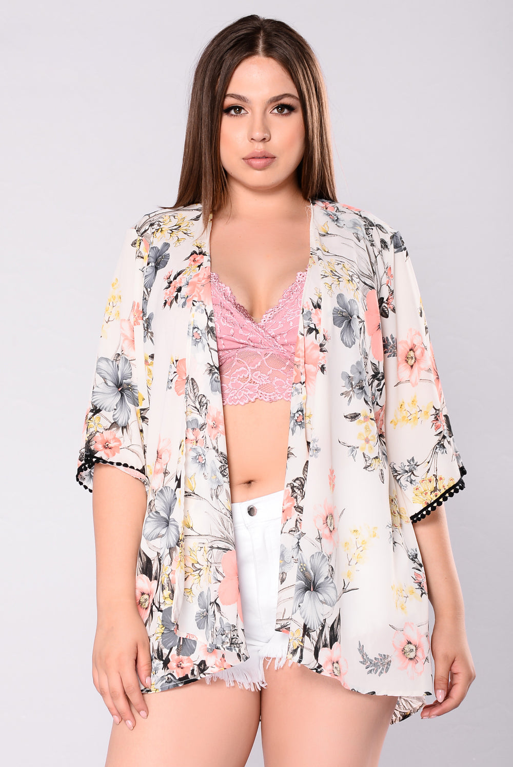 My One And Only Kimono - Ivory Floral