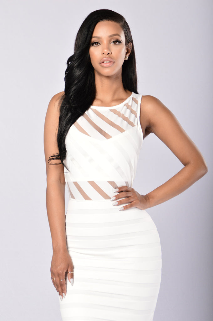 Sheer Temptations Dress - Ivory