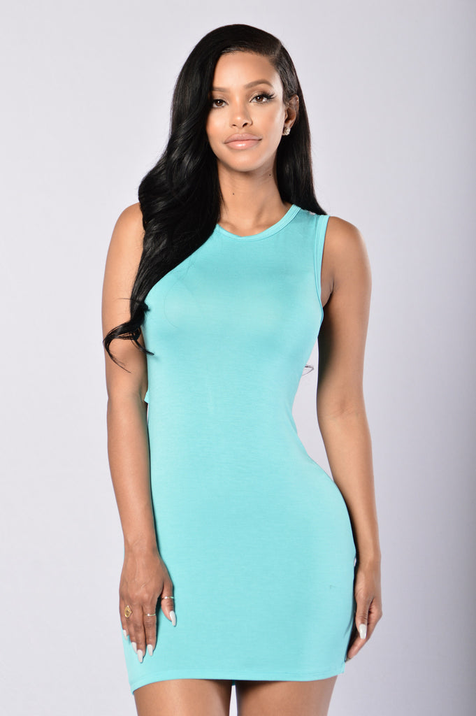 Prim and Proper Dress - Turquoise