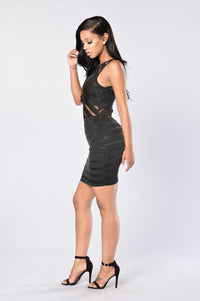 Sheer Temptations Dress - Black