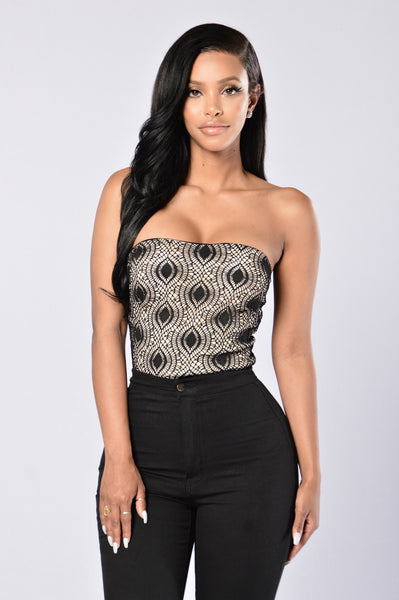 I'm Eyeing You Bodysuit - Black