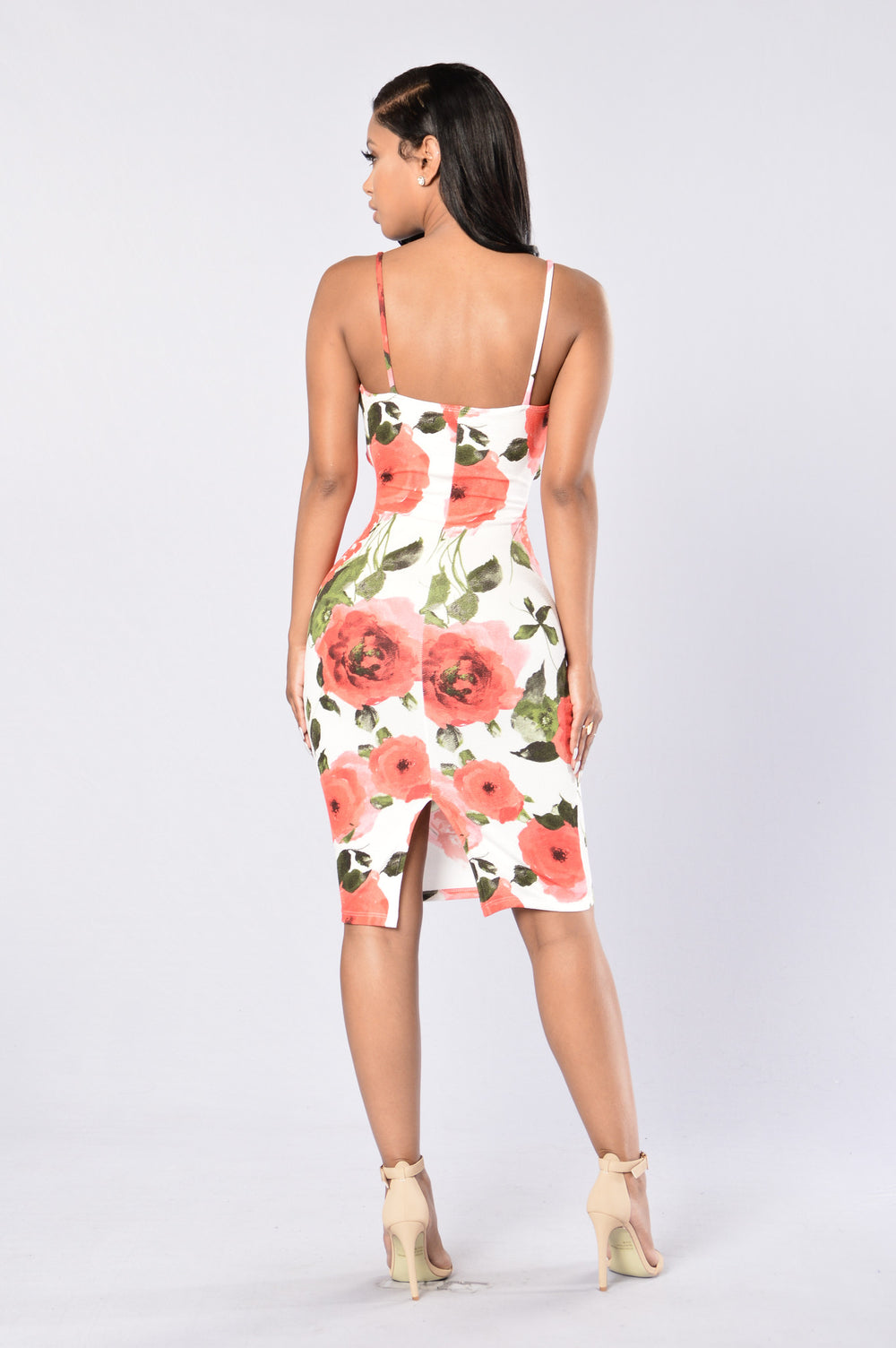 A Dozen Roses Dress - White/Red