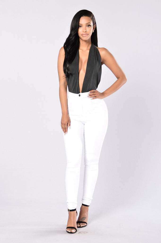 Foxtail Bodysuit - Black