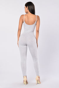Nova Season Jumpsuit - Heather Grey