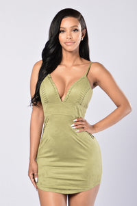 You Can't Handle Me Dress - Olive