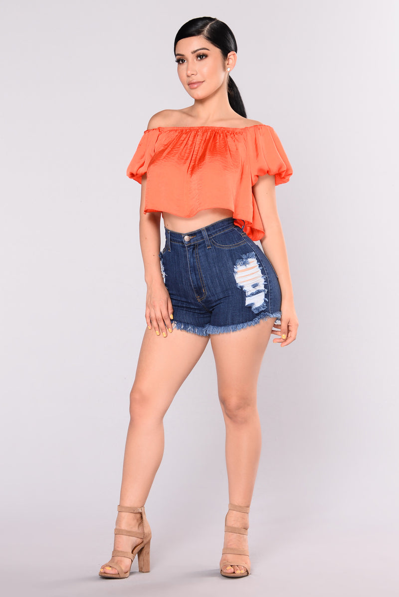 Edesia Denim Shorts - Dark Blue