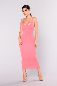 Your Needs Met Dress - Coral