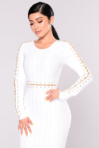 Camryn Bandage Dress - White